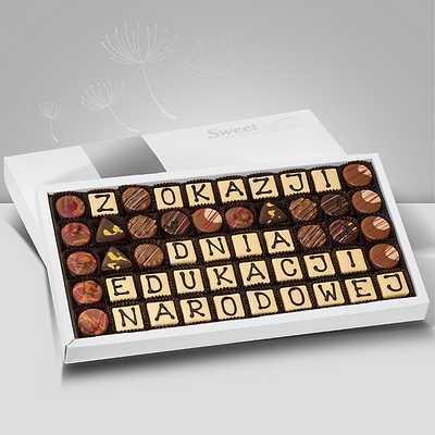 Czekoladowy prezent na Dzień Nauczyciela - Sweet Message